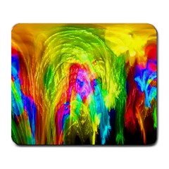 Painted Forrest Large Mouse Pad (Rectangle)