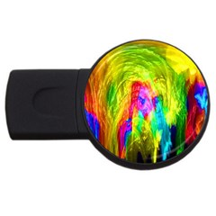 Painted Forrest 4gb Usb Flash Drive (round)