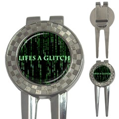 Lifes A Glitch Golf Pitchfork & Ball Marker