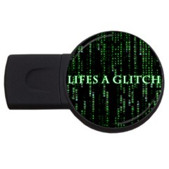 Lifes A Glitch 2GB USB Flash Drive (Round)