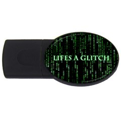 Lifes A Glitch 4GB USB Flash Drive (Oval)