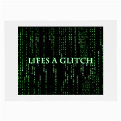 Lifes A Glitch Glasses Cloth (large, Two Sided)