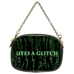 Lifes A Glitch Chain Purse (Two Side)
