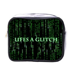 Lifes A Glitch Mini Travel Toiletry Bag (One Side)