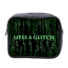 Lifes A Glitch Mini Travel Toiletry Bag (Two Sides)