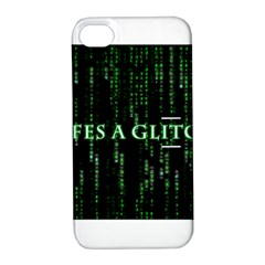 Lifes A Glitch Apple iPhone 4/4S Hardshell Case with Stand