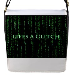 Lifes A Glitch Flap Closure Messenger Bag (small)