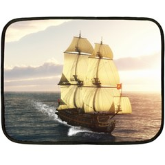 French Warship Mini Fleece Blanket (Single-sided)