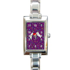 Your Heart Has Wings so Fly - Updated Rectangular Italian Charm Watch