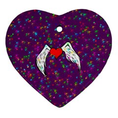 Your Heart Has Wings so Fly - Updated Heart Ornament