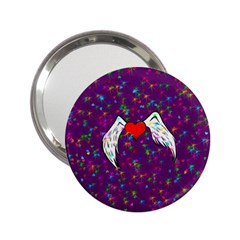Your Heart Has Wings So Fly   Updated Handbag Mirror (2 25 )