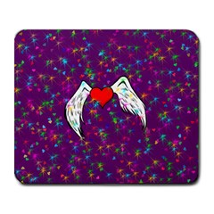 Your Heart Has Wings so Fly - Updated Large Mouse Pad (Rectangle)