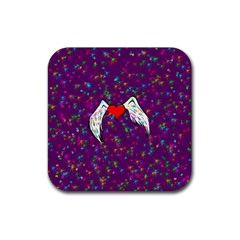 Your Heart Has Wings So Fly   Updated Drink Coaster (square)