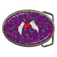 Your Heart Has Wings so Fly - Updated Belt Buckle (Oval)
