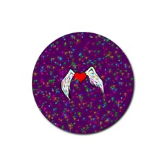 Your Heart Has Wings so Fly - Updated Drink Coaster (Round)