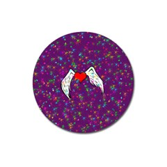 Your Heart Has Wings so Fly - Updated Magnet 3  (Round)