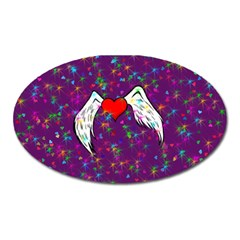 Your Heart Has Wings so Fly - Updated Magnet (Oval)