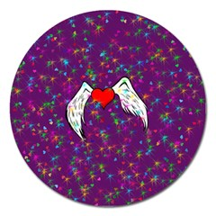 Your Heart Has Wings so Fly - Updated Magnet 5  (Round)