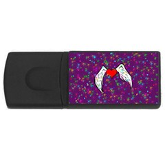 Your Heart Has Wings so Fly - Updated 2GB USB Flash Drive (Rectangle)