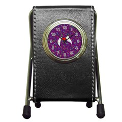 Your Heart Has Wings So Fly   Updated Stationery Holder Clock