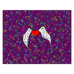 Your Heart Has Wings so Fly - Updated Jigsaw Puzzle (Rectangle)
