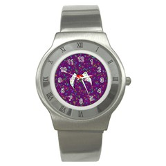 Your Heart Has Wings so Fly - Updated Stainless Steel Watch (Unisex)