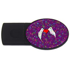 Your Heart Has Wings so Fly - Updated 4GB USB Flash Drive (Oval)