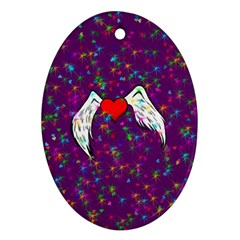 Your Heart Has Wings so Fly - Updated Oval Ornament (Two Sides)