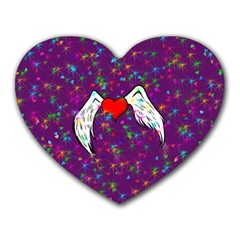 Your Heart Has Wings So Fly   Updated Mouse Pad (heart)