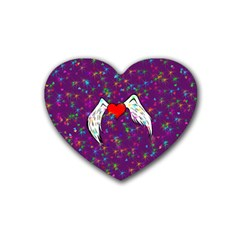 Your Heart Has Wings so Fly - Updated Drink Coasters 4 Pack (Heart)