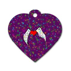 Your Heart Has Wings so Fly - Updated Dog Tag Heart (Two Sided)