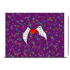 Your Heart Has Wings So Fly   Updated Large Door Mat