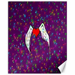 Your Heart Has Wings So Fly   Updated Canvas 11  X 14  9 (unframed)