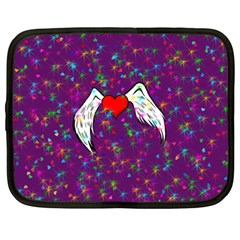 Your Heart Has Wings so Fly - Updated Netbook Case (Large)