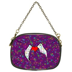 Your Heart Has Wings so Fly - Updated Chain Purse (One Side)
