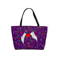 Your Heart Has Wings So Fly   Updated Large Shoulder Bag