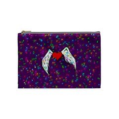 Your Heart Has Wings So Fly   Updated Cosmetic Bag (medium)