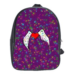Your Heart Has Wings so Fly - Updated School Bag (Large)