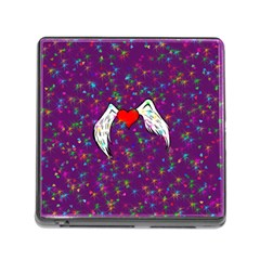 Your Heart Has Wings so Fly - Updated Memory Card Reader with Storage (Square)