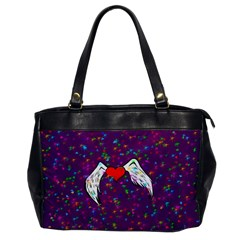 Your Heart Has Wings So Fly   Updated Oversize Office Handbag (one Side)