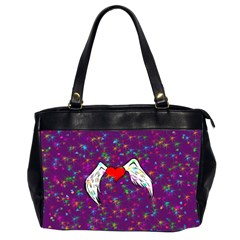 Your Heart Has Wings so Fly - Updated Oversize Office Handbag (Two Sides)
