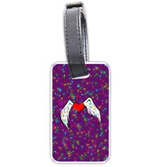 Your Heart Has Wings So Fly   Updated Luggage Tag (two Sides)