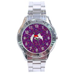 Your Heart Has Wings so Fly - Updated Stainless Steel Watch (Men s)