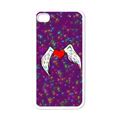 Your Heart Has Wings So Fly   Updated Apple Iphone 4 Case (white)
