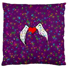 Your Heart Has Wings so Fly - Updated Large Cushion Case (One Side)