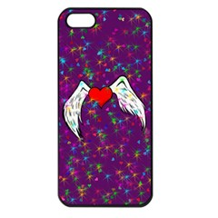 Your Heart Has Wings so Fly - Updated Apple iPhone 5 Seamless Case (Black)