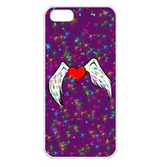Your Heart Has Wings so Fly - Updated Apple iPhone 5 Seamless Case (White)