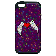 Your Heart Has Wings so Fly - Updated Apple iPhone 5 Hardshell Case (PC+Silicone)