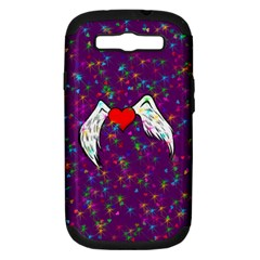 Your Heart Has Wings so Fly - Updated Samsung Galaxy S III Hardshell Case (PC+Silicone)