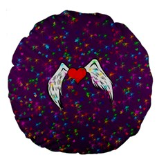 Your Heart Has Wings so Fly - Updated 18  Premium Round Cushion